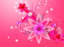 Glamorous Girly Pink Wallpaper