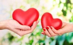Heart Hands Background