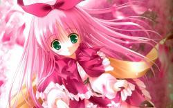 Cute Pink Anime Girl