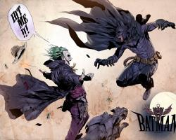 Download Wallpaper batman dc comics the joker alternative art western batman the dark knight -33977-29