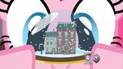 Derpy hiding in snowglobe S2E18
