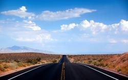 Desert road nevada