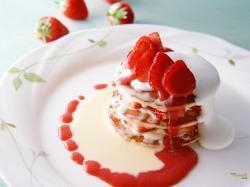 Strawberries Dessert Wallpaper