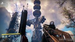 In this lovely picture of the cosmodrome the PS4 performs slightly better overall, especially in the smaller elements of the ruined and contorted metal, ...