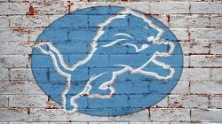 NFL Detroit Lions Logo On Grey Brick Wall 1920x1080 HD
