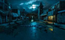 Dead Village Digital Art Background Wallpaper