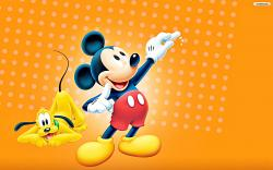 Walt Disney Characters Walt Disney Wallpapers - Pluto & Mickey Mouse