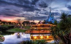 Disneyland evening