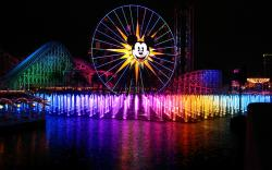 water multicolor mickey mouse disneyland roller coasters