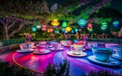 Disneyland Wallpaper: Remarkable Mad Tea Party Disneyland Wide Wallpaper 3840x2400px