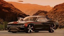 Tuned Black Dodge Challenger<br ...