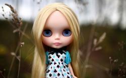 Doll Toy Blonde Dress