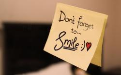 Don't Forget To Smile Sticky Note Graphic
