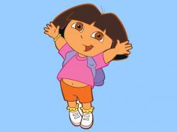 Dora Explora jumping for joy!