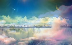 Colorful Clouds Dreamy Wallpaper