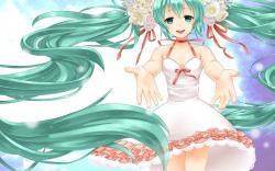 Anime Girl Dress White
