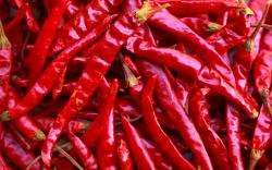Dried Peppers Wallpaper