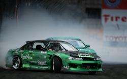 Drift Nissan Silvia Smoke HD Wallpaper