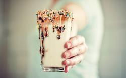 Drink Milk Chocolate Macro Photo