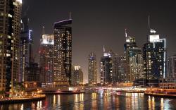 Dubai city night wallpaper