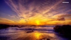... Shore at Dusk wallpaper 1280x800