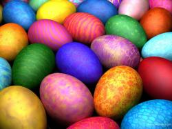 Colorful Easter Eggs Free Desktop Background Wallpaper Image 1600x1200px