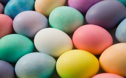 Colorful Easter Eggs Wallpaper