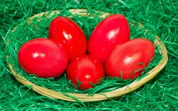 ... Red Easter eggs wallpaper 2560x1600 ...