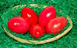 ... Red Easter eggs wallpaper 2560x1600 ...
