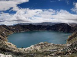 1771 views Panorama Quilotoa Crater Lake Ecuador