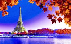 EIFFEL TOWER in AUTUMN HQ Wallpaper