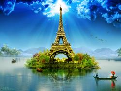 Paris Eiffel Tower Wallpaper Manipulation By Mrm