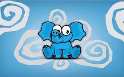 Elephant Blue Cartoon