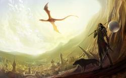 Elf dragon wolf