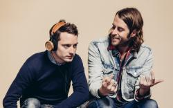 Elijah Wood and Zach Cowie Bushmills Irish Whiskey Grado Labs Headphones