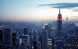 Hd Wallpaper Empire State Building Sky View