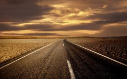 Empty Long Road at Sunset (click to view)