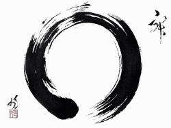 "The enso(えんそう) circle is apart of the Zen Buddhism. The word enso translates to ""circle."" The circle is hand-drawn."