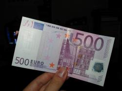 One quarter of all 500 euro notes are recorded in Spain since its launch in 2002.