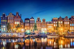 Amsterdam Lights HD Wide Wallpaper for Widescreen