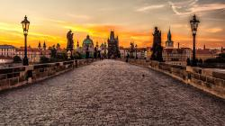 Europe prague czech republic cities charles bridge wallpaper