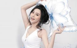 cute smile fan bingbing background picture