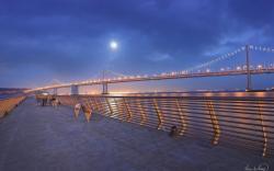 Bay Bridge Hd Wallpapers 1080p: Hd Fantastic Bay Bridge from Waterfront Wallpaper Download Free 1920x1200px