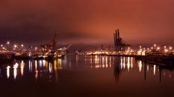 Fantastic City Dock Wallpaper