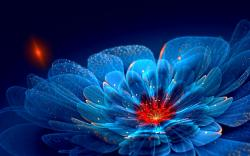 Fantastic Neon Flowers Wallpaper