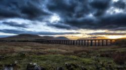Fantastic Railroad Bridge Across The Plain Hd Desktop Background HD wallpapers