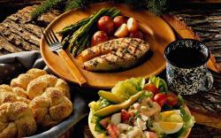 Fantastic Seafood Dinner Wallpaper