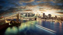 Great View Of The Brooklyn Bridge wallpaper