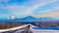 Fantastic Winter Road Wallpaper