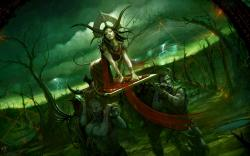 Fantasy demons world